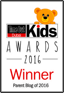 Time Out Dubai Kids Awards 2016 - Winner - Parent Blog of 2016