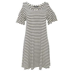Striped dress Dhs65