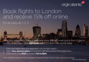 virgin atlantic discount code